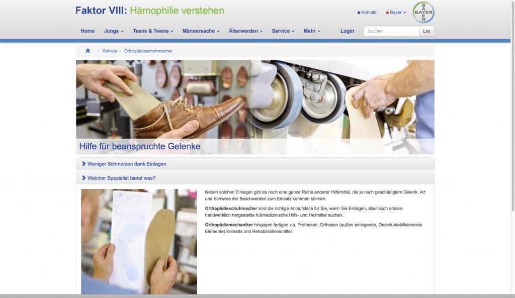 Homepage Faktor VIII